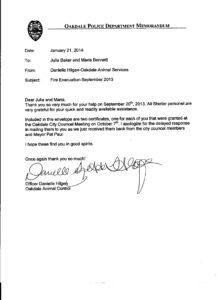 OAS Fire Evac Letter 10-2013